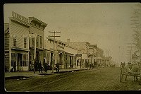 Main Street unpaved, about 1890
