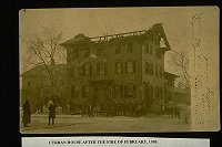 Curran House after the fire of 1909