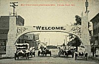 Stevens Point's 50th Anniversary welcome arch